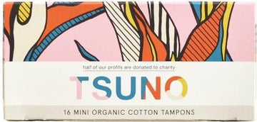 Tsuno Organic Cotton Tampons 16 Mini