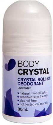 Body Crystal Roll-On Deodorant Unscented 80ml-Health Tree Australia