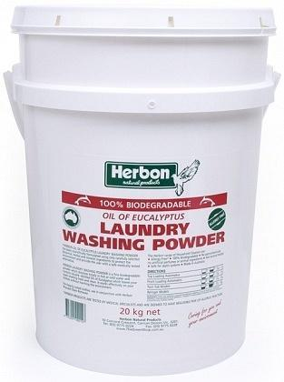Herbon Fragrance Free Laundry Wash Pwd Bucket 20kg-Health Tree Australia