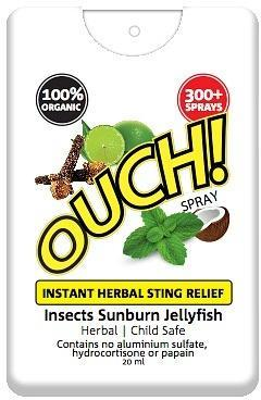 Ouch Organic Instant Herbal Sting Relief Spray 20ml-Health Tree Australia