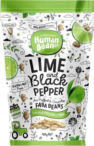 Human Bean Co Lime & Black Pepper Faba Beans G/F 150g