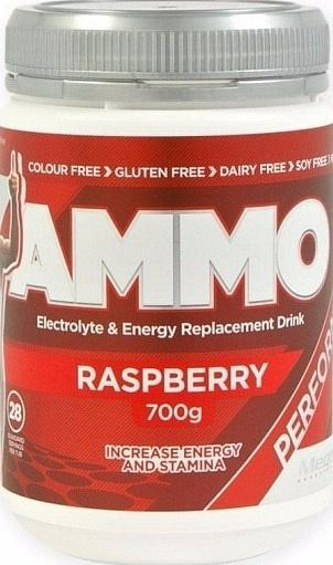 Megaburn Ammo Electrolyte & Energy Replacement Drink Raspberry 700g-Health Tree Australia