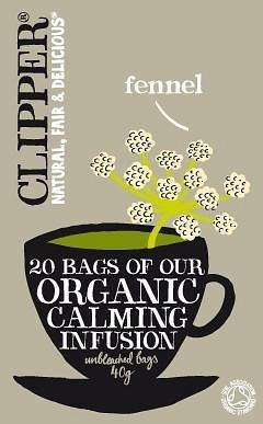 Clipper Organic Calming Infusion - Fennel 20 Teabags-Health Tree Australia