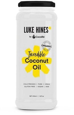 Luke Hines by Cocolife Organic Incredible Coconut Oil G/F 475ml New