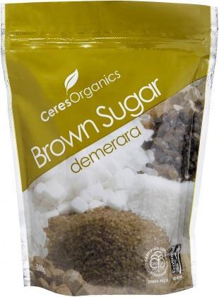 Ceres Organics Sugar Brown 500g (Demerara)-Health Tree Australia