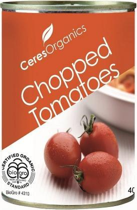 Ceres Organics Tomatoes Chopped 400g (Can)-Health Tree Australia