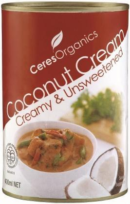 Ceres Organics Coconut Cream 400g (Can)-Health Tree Australia