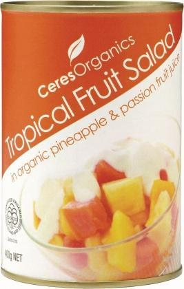 Ceres Organics Tropical Fruit Salad 400g (Can)-Health Tree Australia
