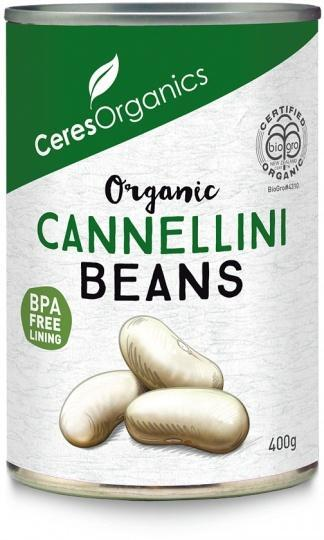 Ceres Organics Cannellini Beans 400g (Can)-Health Tree Australia