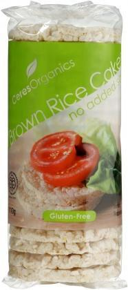 Ceres Organics Rice Cakes No Added Salt 110g