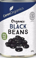 Ceres Organics Black Beans 400g (Can)-Health Tree Australia