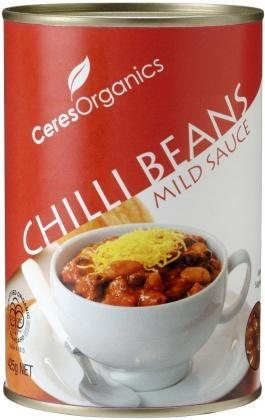 Ceres Organics Chilli Beans In Sauce Can 425g