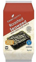 Ceres Organics Roasted Seaweed Mild Chilli Snacks G/F 5g