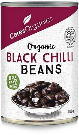 Ceres Organics Black Beans in Chilli Sauce 400g (Can)-Health Tree Australia