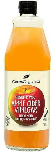 Ceres Organics Raw Apple Cider Vinegar with The Mother 750ml-Health Tree Australia