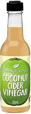 Ceres Organics Coconut Cider Vinegar Raw 250ml
