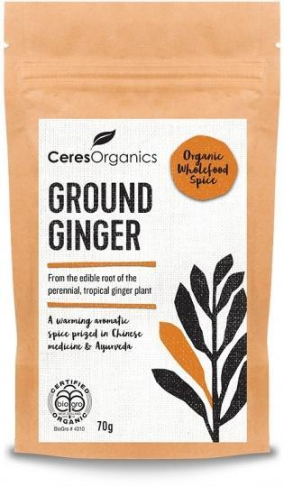 Ceres Organics Bio Ground Ginger Powder 70g-Health Tree Australia