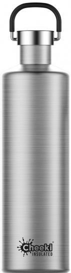 Cheeki Classic Stainless Steel Insulated Silver Bottle 1L