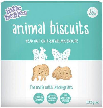 Little Bellies Organic Animal Biscuits (12+ months) 100g