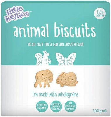 Little Bellies Organic Animal Biscuits (12+ months) 100g-Health Tree Australia