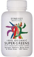 Synergy Super Greens 200 tabs Organic
