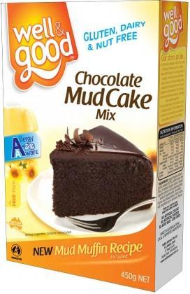 Well And Good Mud Cake Mix 450g G/F-Health Tree Australia