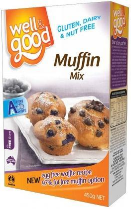 Well And Good Muffin Mix 450g G/F-Health Tree Australia