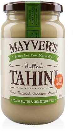 Mayvers Tahini Hulled 385gm-Health Tree Australia