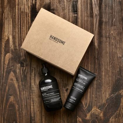Handsome Men's Organic Skincare Shower Pack (2in1Shampoo & Body Wash)