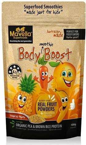 Mavella Superfoods Smoothie for Kids Body Boost Tropical Taste Powder 100g