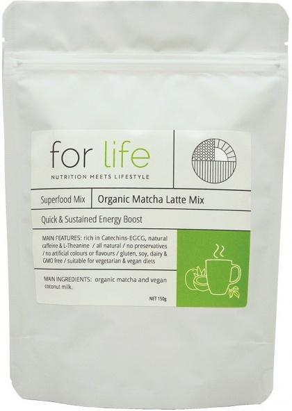 For Life Organic Matcha Latte Mix Powder 150g