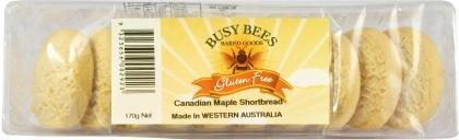 Busy Bees Canadian Maple Syrup Shortbread 170g-Health Tree Australia