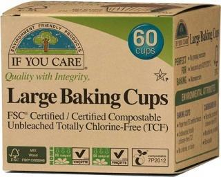 If You Care Large Baking Cups 60Pcs-Health Tree Australia