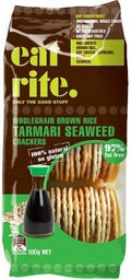 Eat Rite Wholegrain Brown Rice Tamari Seaweed Crackers 100g