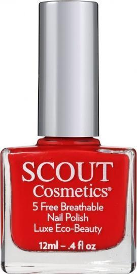 Scout Cosmetics Nail Polish Vegan RED At Me 12ml