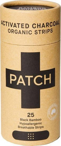 PATCH Activated Charcoal Organic Adhesive Strips Tube of 25
