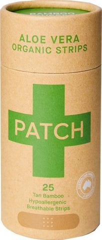 PATCH Aloe Vera Organic Adhesive Strips Tube of 25