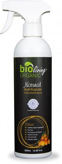 Bio Living Organic Natural Mulit-Purpose Antibacterial Spray Citrus 500mL-Health Tree Australia