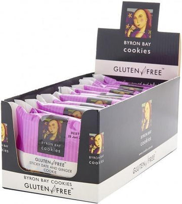 Byron Bay Gluten Free Sticky Date & Ginger 60g x 12
