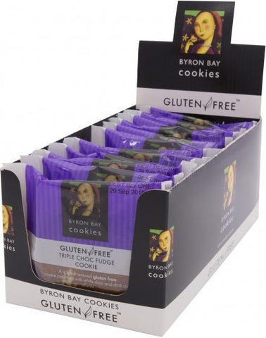Byron Bay Triple Chocolate Fudge G/F 60g X 12-Health Tree Australia