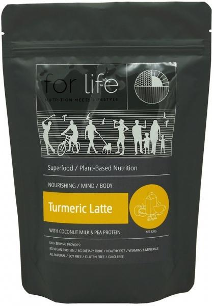 For Life Turmeric Latte with Coconut Milk and Pea Protein Powder 420g