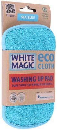 White Magic Washing Up Pad Sea Blue - 15x8cm-Health Tree Australia