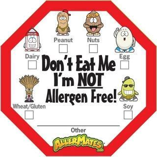 AllerMates Dont Eat Me Im Not Allergen Free with Checkboxes - 24 Pack Labels - Health Tree Australia