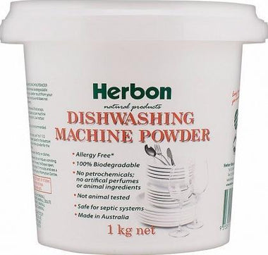Herbon Dishwashing Powder 1kg-Health Tree Australia