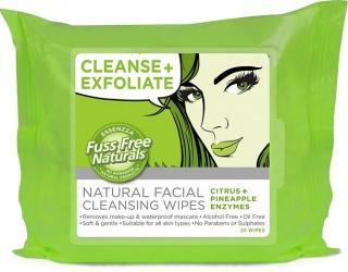 Essenzza Fuss Free Facial Cleanse Wipes Exfoliate 25Pk-Health Tree Australia