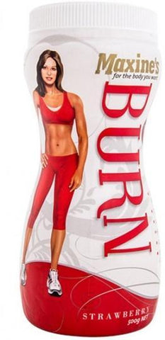Maxine's Burn Protein Powder Strawberry G/F 500g-Health Tree Australia