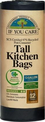 If You Care Tall Kitchen Bags 12Bags (13 Gallon)-Health Tree Australia