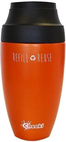 Cheeki Stainless Steel Coffee Mug Orange 350ml-Health Tree Australia