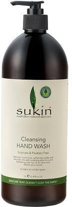 Sukin Cleansing Hand Wash pump 1 Litre-Health Tree Australia