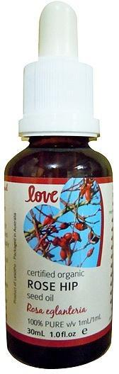 Love Oils Organic Rose Hip Seed Oil 30ml-Health Tree Australia